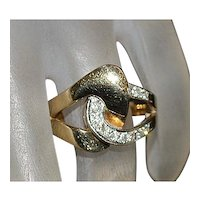 14K Gold and Diamond Ring - 1970's