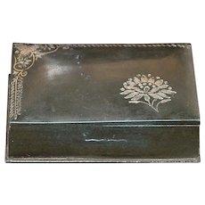 Victorian Black Niello Silver  Box