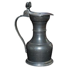 Old  Covered Pewter Creamer - Holland