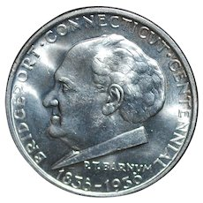 1936 Bridgeport Commemorative Silver Half Dollar