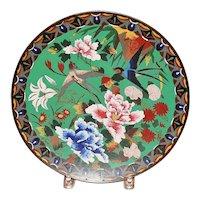 Old Japanese Meiji Cloisonne Charger - 1880's