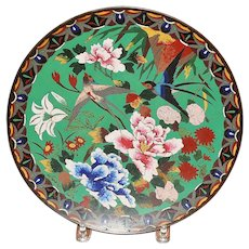 Old Japanese Meiji Cloisonne Charger - 1880's