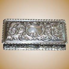 English Victorian Sterling Silver Box - 1897