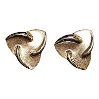 Pair of 14K Gold Italian Earrings