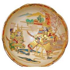 Japanese Satsuma Samurai Meiji Bowl