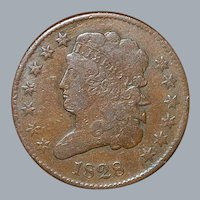 United States Half Cent Coin - 1828