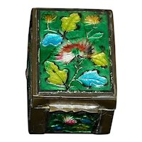 Old Chinese Brass and Enamel Box - 1910