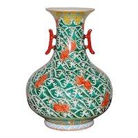 Old Chinese Porcelain Fish Vase