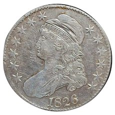 United States Silver Half Dollar Coin - 1826