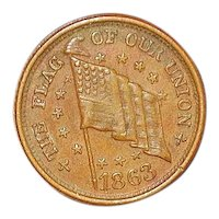 "Union Civil War ""Flag"" Token - 1863"