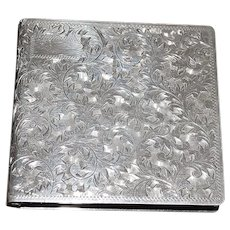 Fine Engraved 950 Silver Case - 1940's