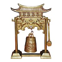 Chinese Brass Pagoda Bell