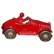 Cast Iron Toy Race Car - 1930