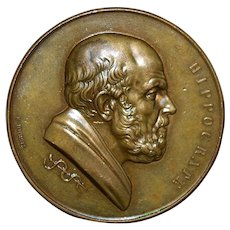 French Bronze Medal of Hippocrate