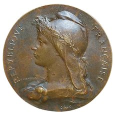 French Bronze Medal - O. Roty