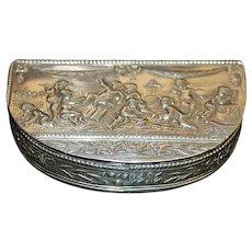 German Demilune Silver Snuff Box - 1890