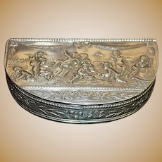 German Demilune Silver Snuff Box - 1890