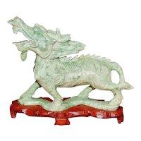 Chinese Carved Jade figure of Kirin