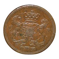 Cornish Copper Penny Coin