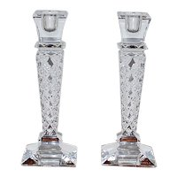 Pair of Towle Glass Candlesticks