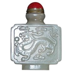 Chinese Jade Dragon Snuff Bottle