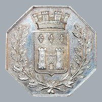 French Silver Gambling Jeton Coin