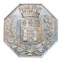 French Silver Gambling Jeton Coin