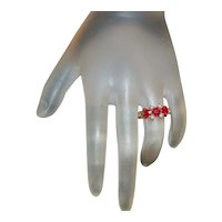 14K Victorian Ruby and Pearl Ring