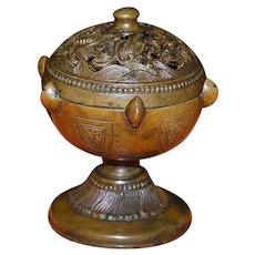 Chinese Bronze Dragon Incense Burner