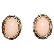 Pair of 14K Coral Earrings
