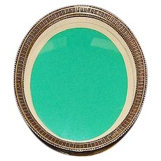 German Brass Oval Picture Frame