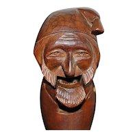 German Black Forest Wood Carved Nutcracker