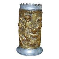 French Brass Figural Spill Vase