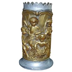 French Brass Figural Spill Vase