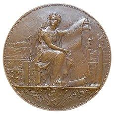 French Art Nouveau Bronze Medal - 1897