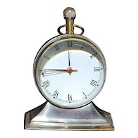 Brass and Glass Ball Desk Clock