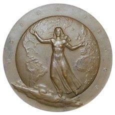 Large Bronze World Peace Medal - 1946