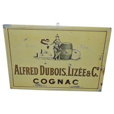 French Tin Cognac Sign