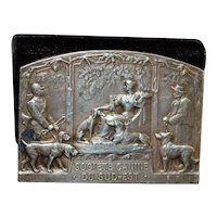 French Silver Bronze Dog Award Medal - 1930