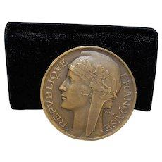 French Art Deco Bronze Medal - Morlon