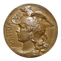 "French Gold Bronze Medal ""Patria"" - Mattei"