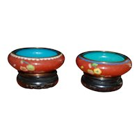 Pair of Chinese Republic Cloisonne Bowls