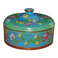 Chinese Republic Cloisonne Covered Box