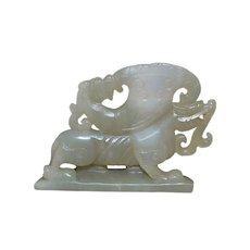 Chinese Celadon Jade Dragon Toggle