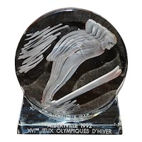 Lalique Olympic Winter Games Paperweight - 1992
