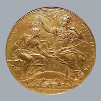 French Bronze Universal Exposition Medal - 1889