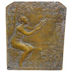 Large Belgian Silver bronze Medal -1919