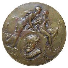P.P. Rubens Bronze Medal by Mauruoy