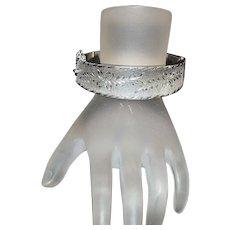 Sterling Silver Wide Bangle Bracelet