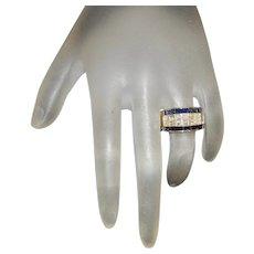 18K Sapphire and Diamond Ring - LeVian